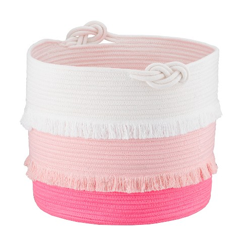 Large Coil Rope Toy Storage Basket Pink - Pillowfort™ - image 1 of 4