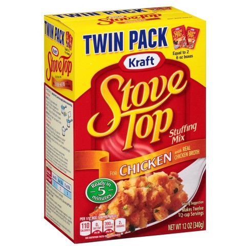 Kraft Stove Top Stuffing Mix Chicken Twin Pack 12 Oz Target