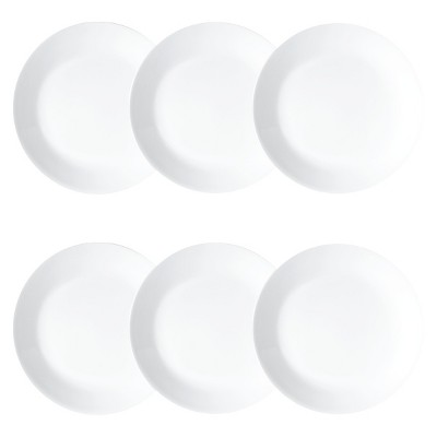Corelle Vitrelle Salad Plates 8.5  White - Set of 6