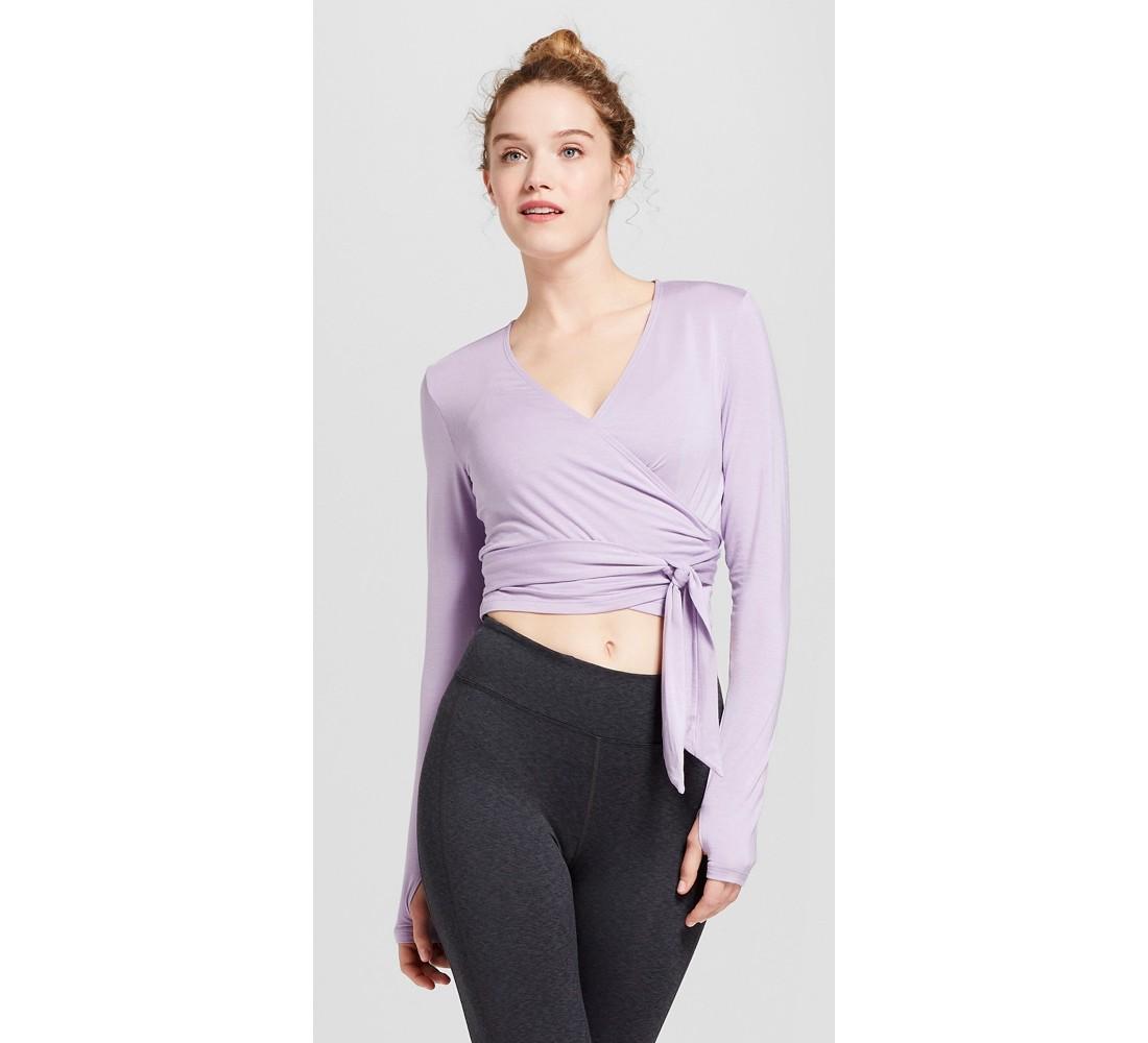 Women's Long Sleeve Wrap Top - JoyLab™