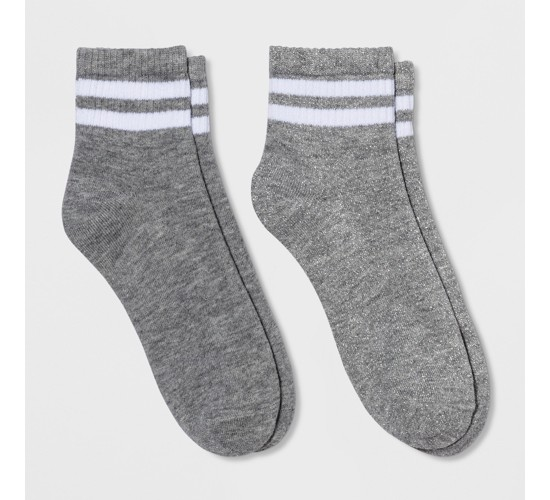 Women's Athletic Socks - Xhilaration™ Heather Gray One Size