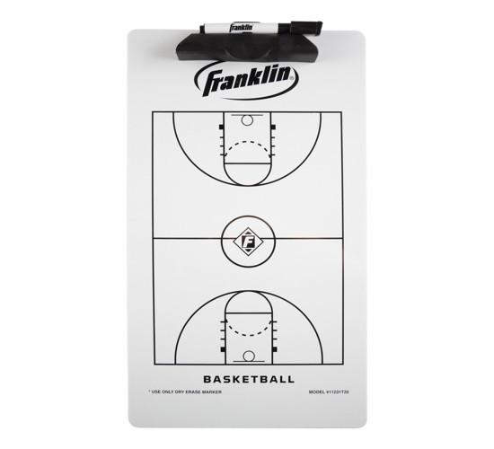 Franklin Sports Basketball Coaching Clipboard - White