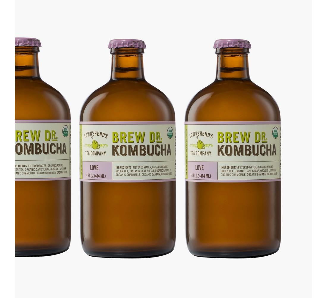 Brew Dr Love Kombucha 14 oz