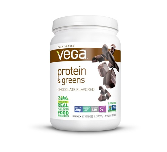 Vega Protein and Greens Tub Drink Mix - Chocolate - 18.4oz