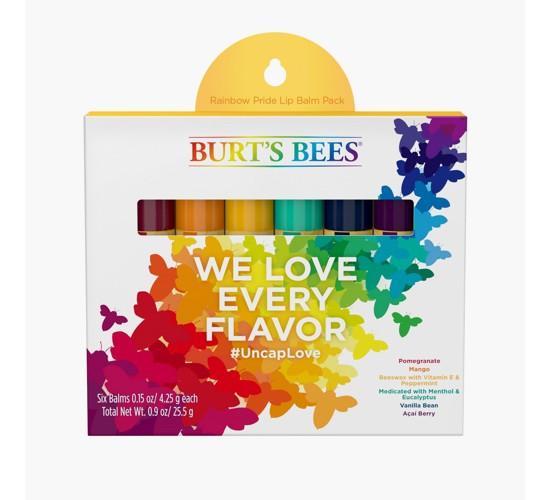 Pride Burt's Bees Rainbow Assorted Lip Balm- 6 pk