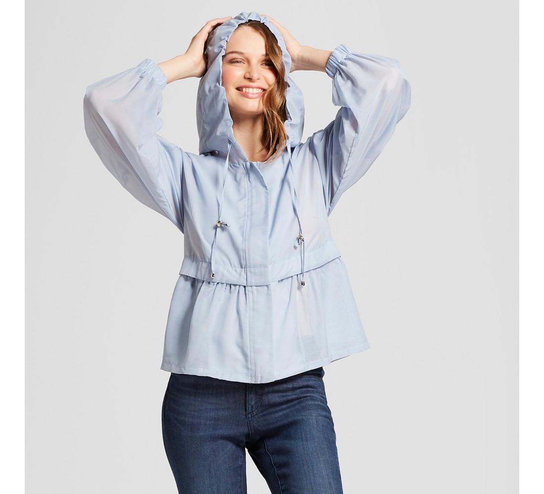 Women's Anorak Jacket - A New Day™ Light Blue