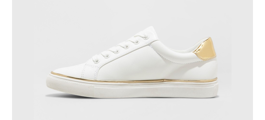 Women's Cache Lace Up Sneakers - A New Day™ White