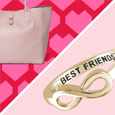 Women's Tote Handbag - A New Day, Women's Sterling Silver Elegantly Engraved Infinity Ring with Best Friends