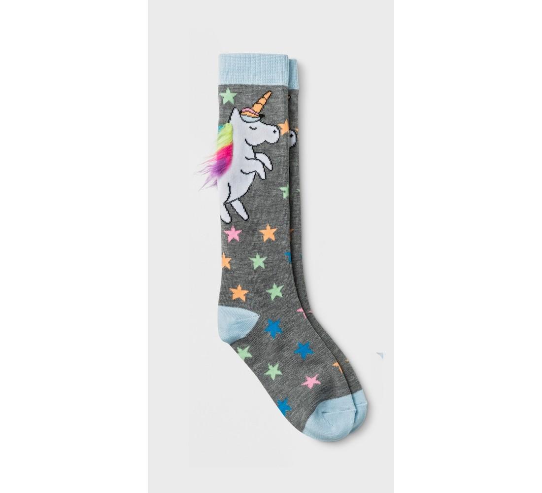 Girls' 2pk Unicorn Knee-High Socks- Cat & Jack™ Black