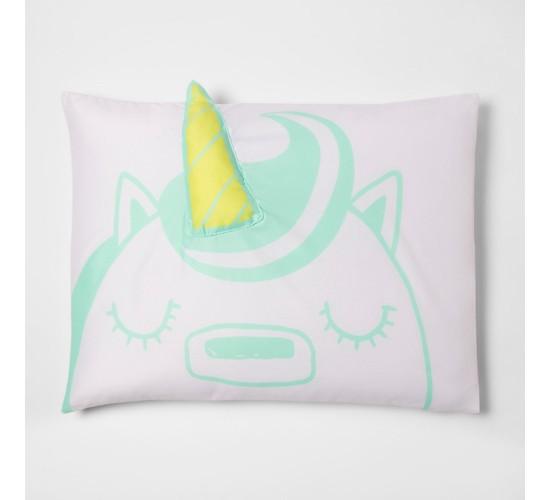 Green Unicorn Pillow Case - Pillowfort™