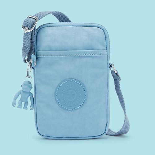 Kipling Tally Crossbody Phone Bag Blue Mist