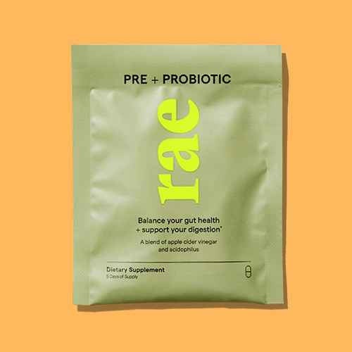 Rae Pre + Probiotic Dietary Supplement Capsules for Gut Health - 10ct