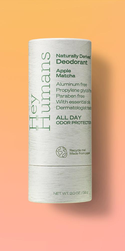 Hey Humans Natural Deodorant Apple Matcha - 2oz