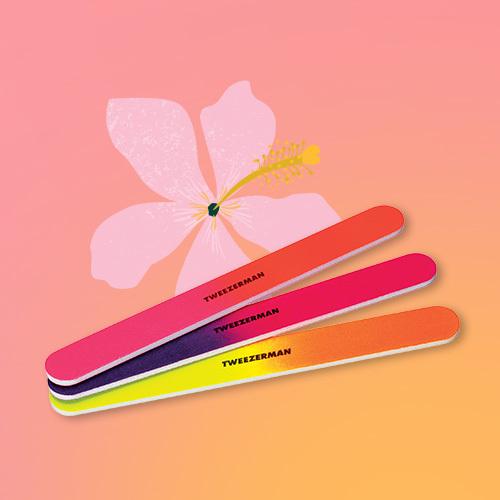 Tweezerman Neon Hot Nail Files - 3pk