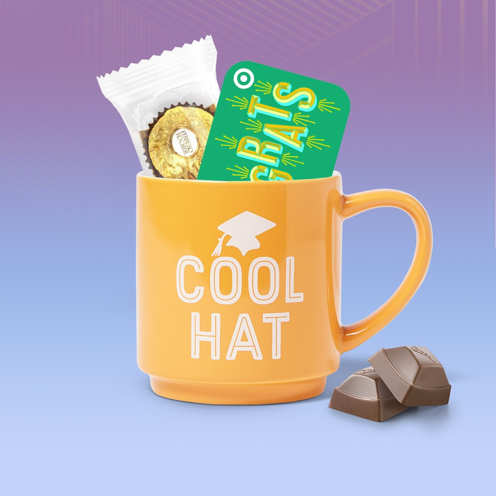 Congrats GiftCard, Ferrero Rocher Fine Hazelnut Chocolates - 1.3oz/3ct, Hershey's Cadbury Caramello Share Size Bag - 8oz