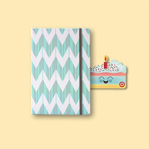 Dabney Lee Journal (240 pages, lined) - Mint / Chevron, Birthday Cake GiftCard