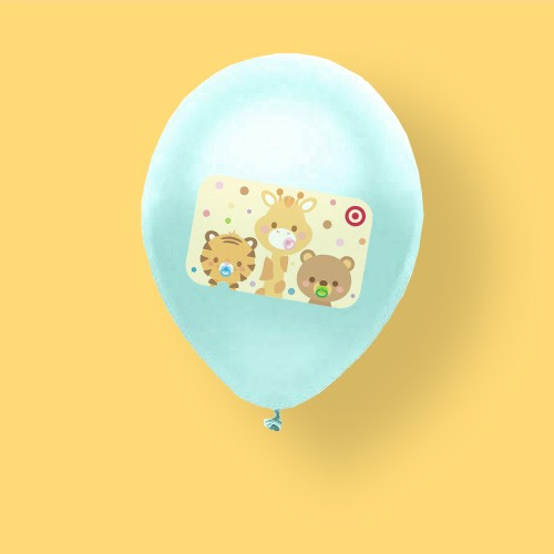 3 Cute Animals Target GiftCard, 20ct Metallic Balloon Pack Mint Green/Green
