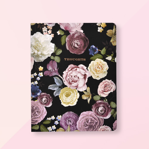 Vintage Floral 'Thoughts' Notebook - George Stanley