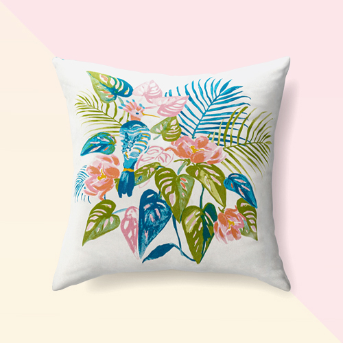 Palm Bird Reversible Throw Pillow - Opalhouse™