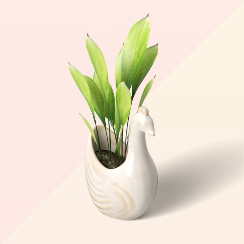 "4"" Earthenware Planter Bird Figural - Opalhouse™"