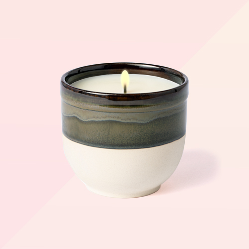 Citornella Ceramic Clay 1 Wick Candle Glossy Gray -  Threshold™ Designed with Studio McGee