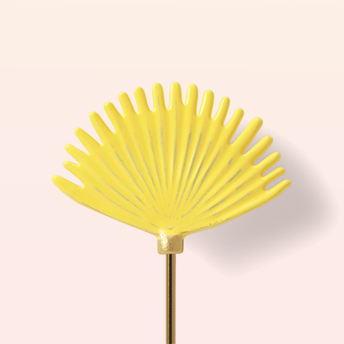 Iron and Aluminum Leaf Pot Stake Yellow - Opalhouse™