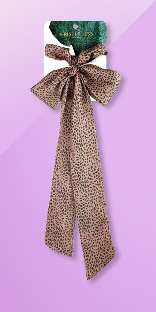 Kristin Ess Scrunchie + Scarf Set - Cheetah