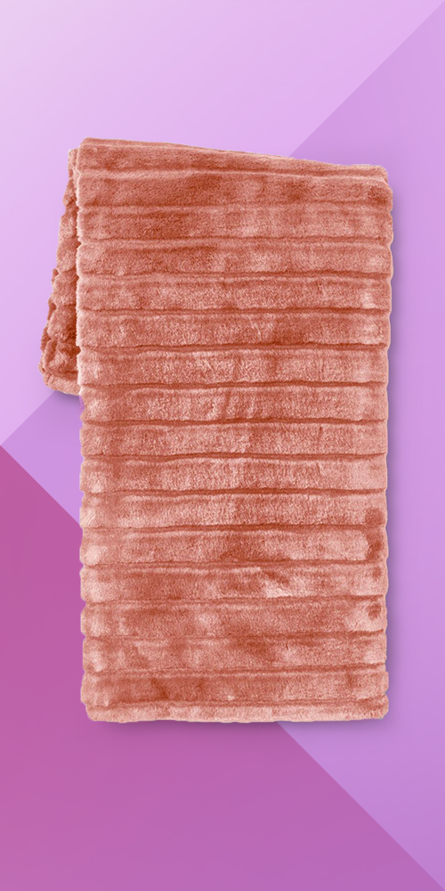 Textured Faux Fur Throw Blanket Pink - Project 62™