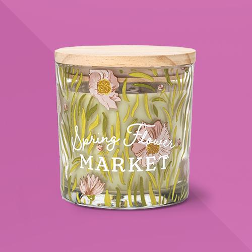 13oz Glass Jar 'Spring Flower Market' Candle - Threshold™