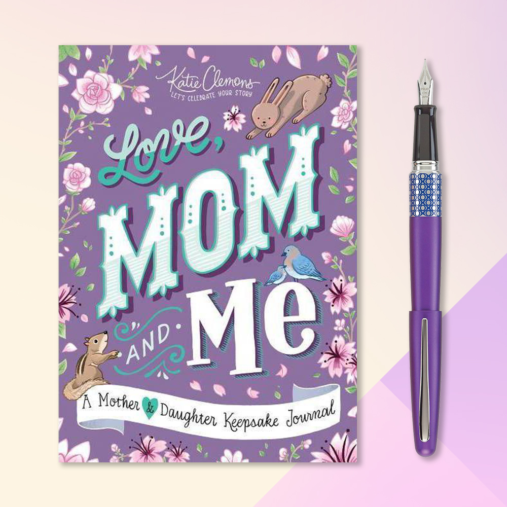 Love, Mom and Me - by  Katie Clemons (Paperback), 1ct Fountain Pen Purple Barrel Black Ink Mr Pop - Pilot