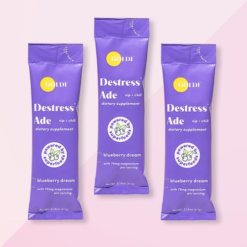 Golde Destress Ade Blueberry Dietary Supplements - 6ct, Women's Tie-Dye Cozy Pull-On Slipper Socks - Pink/Purple S/M, Women's Iridescent Cozy Pull-On Slipper Socks - Teal/Pink S/M