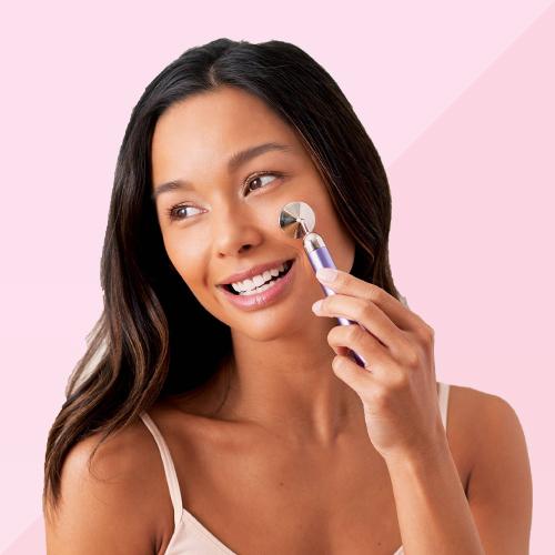 Plum Beauty Rose Quartz Vibrating Facial Massager - 1ct