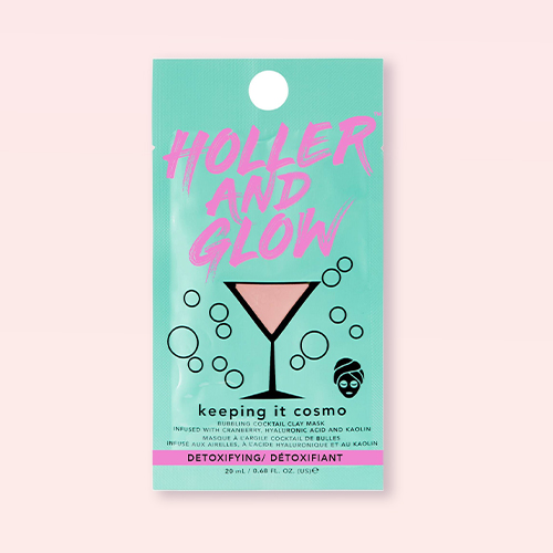 Holler and Glow Keeping It Cosmo Fizzing Clay Mask - 0.68 fl oz