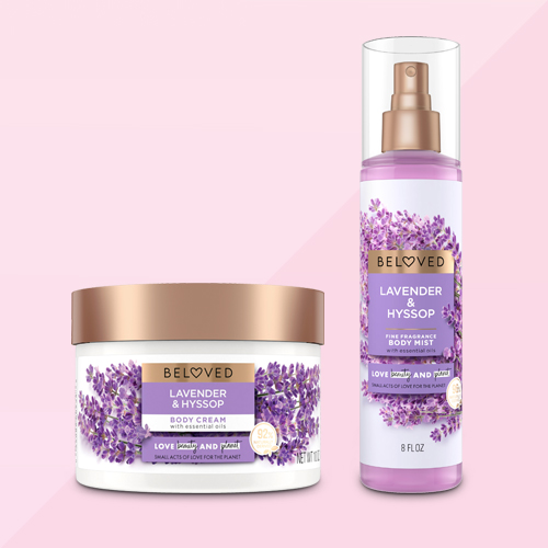 Beloved Lavender & Hyssop Body Cream Lotion - 10oz, Beloved Lavender & Hyssop Body Mist - 8 fl oz