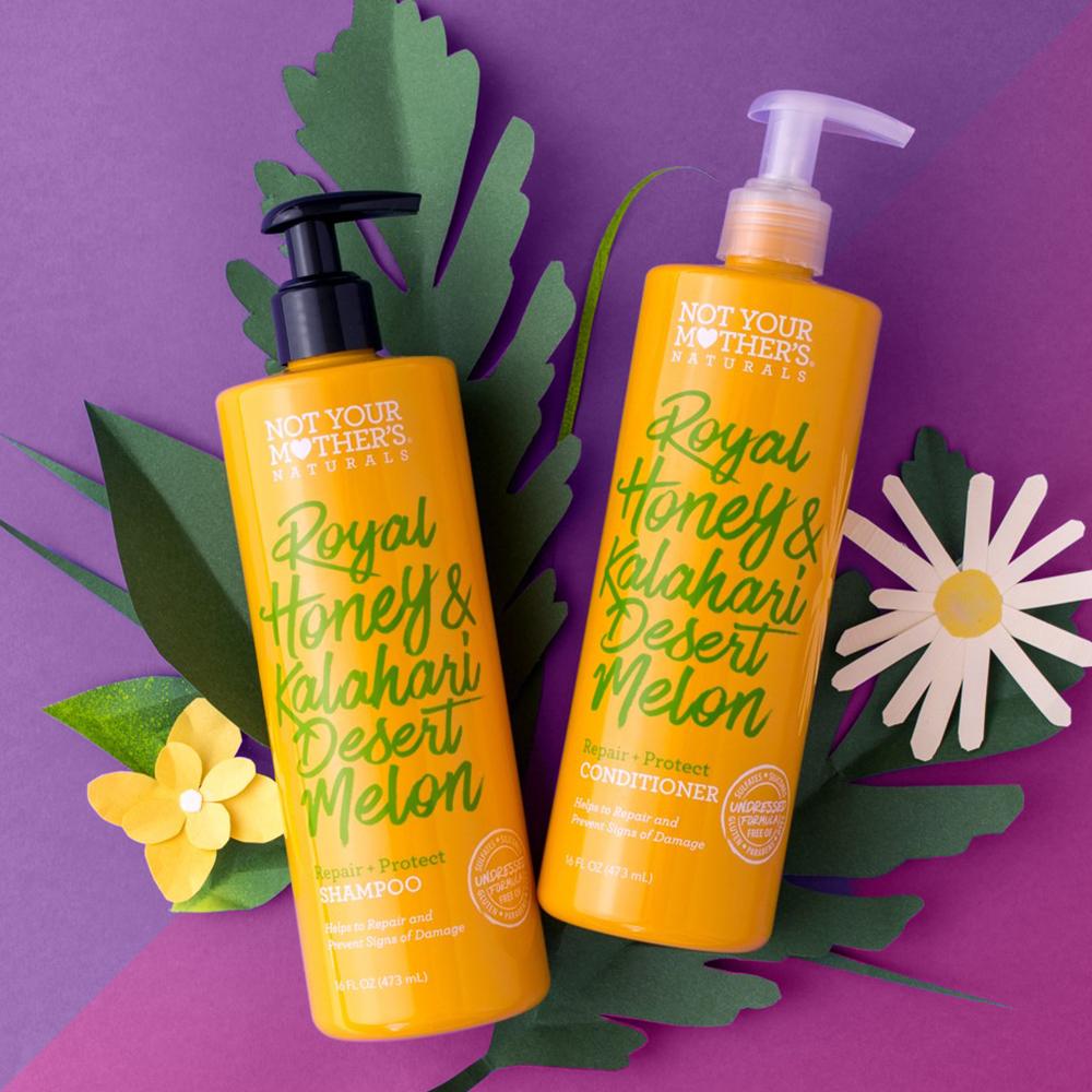 Not Your Mother's Royal Honey & Kalahari Desert Melon Repair + Protect Shampoo - 16 fl oz, Not Your Mother's Royal Honey & Kalahari Desert Melon Repair + Protect Conditioner - 16 fl oz