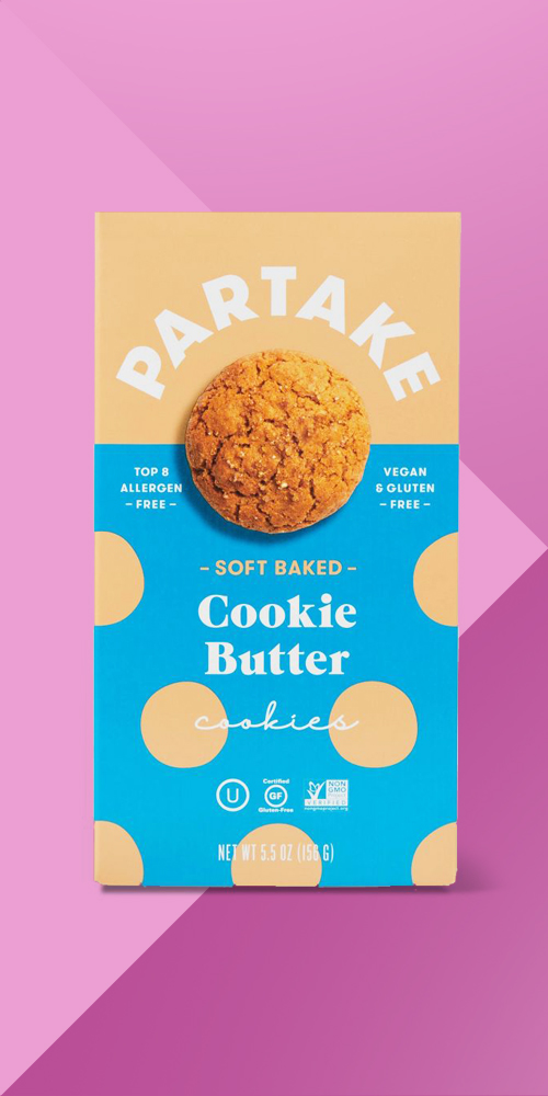 Partake Gluten Free Soft Baked Cookie Butter Cookies - 5.5oz