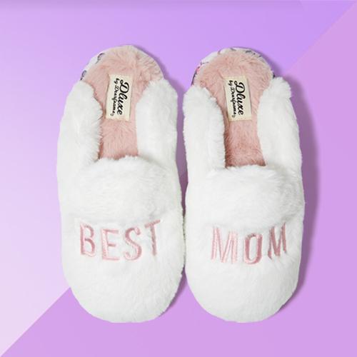 Women's dluxe by dearfoams Best Mom Slippers - Alabaster S