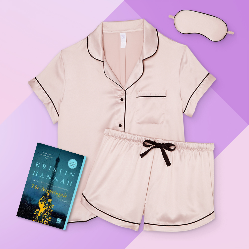 Women's 3pc Satin Notch Collar Top Pajama Set - Stars Above™ Soft Pink S, Nightingale (Paperback) (Kristin Hannah)