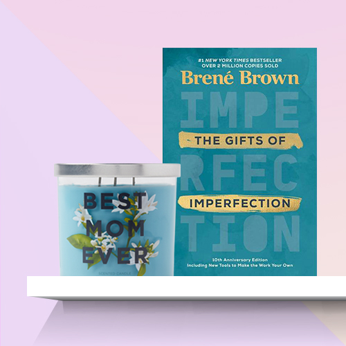 The Gifts of Imperfection: 10th Anniversary Edition - by Brené Brown (Hardcover), 14oz Glass Jar 3-Wick Best Mom Ever Candle - Opalhouse™