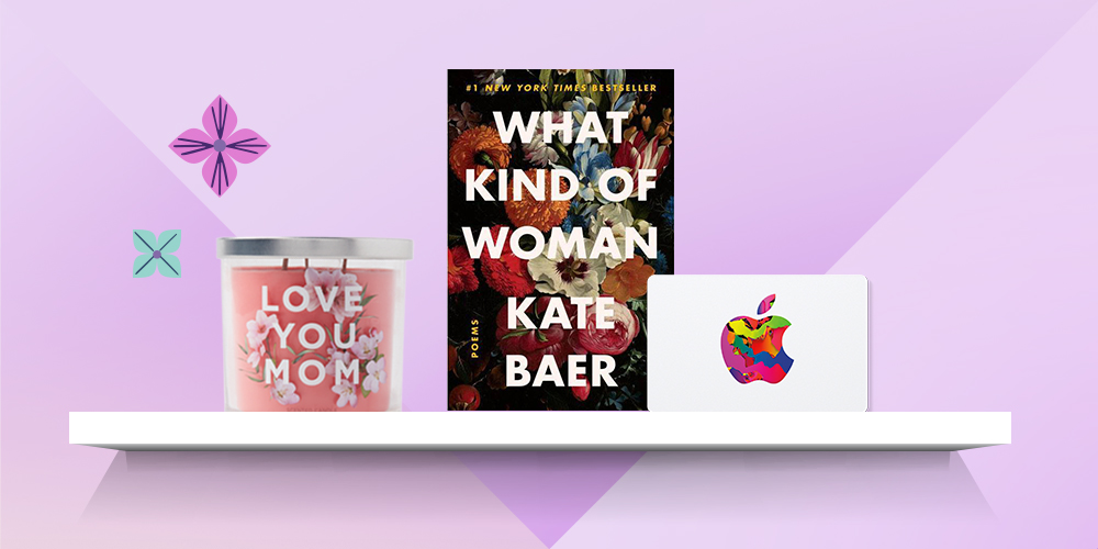What Kind of Woman: Poems - by Kate Baer (Paperback), 14oz Glass Jar 3-Wick Love You Mom Candle - Opalhouse™, Apple Gift Card $15 - App Store, iTunes, iPhone, iPad, AirPods, and accessories (Email Delivery)