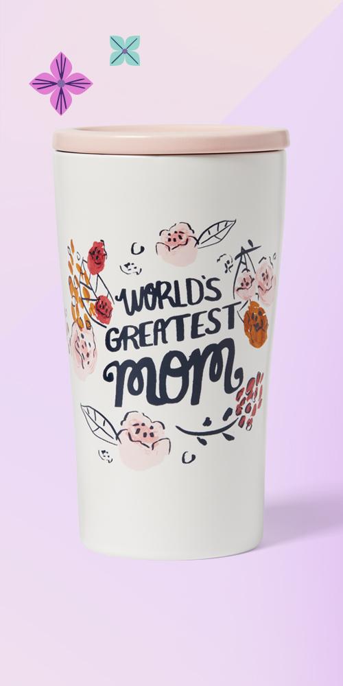 10oz Stoneware World's Greatest Mom Tumbler with Lid - Opalhouse™