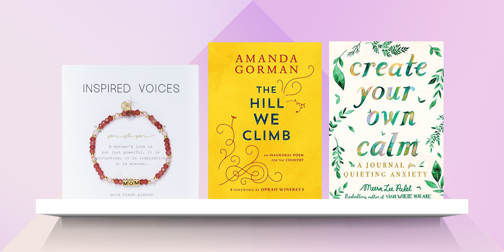The Hill We Climb - by Amanda Gorman (Hardcover), Create Your Own Calm - by Meera Lee Patel (Paperback), Gold Tone Plated 'Mom' Stretch Bracelet - Pink