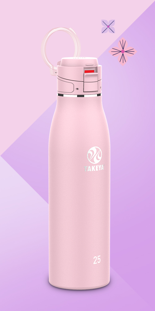 Takeya 25oz Insulated Stainless Steel Travel Mug with Flip-Lock Spout Lid - Blush Pink