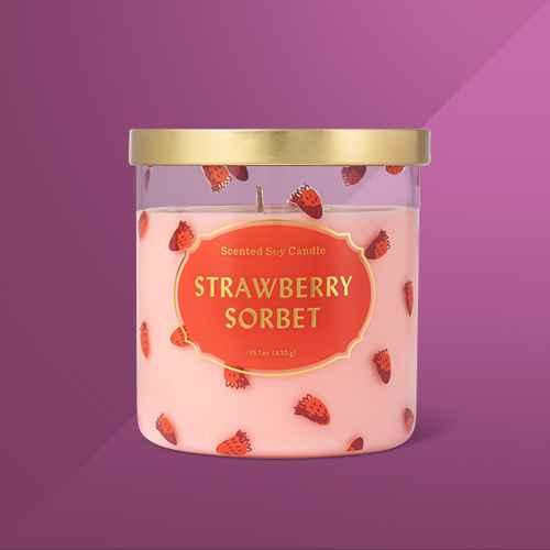 15.1oz Valentine's Lidded Jar Strawberry Sorbet Candle - Opalhouse™