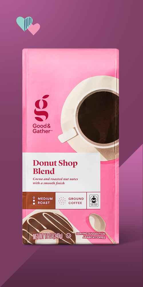 Donut Shop Blend Medium Roast Ground Coffee - 12oz - Good & Gather™