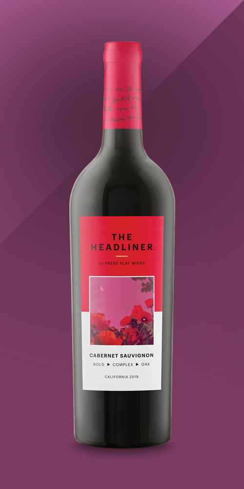 Cabernet Sauvignon Red Wine – 750ml Bottle – The Headliner by Press Play Wines