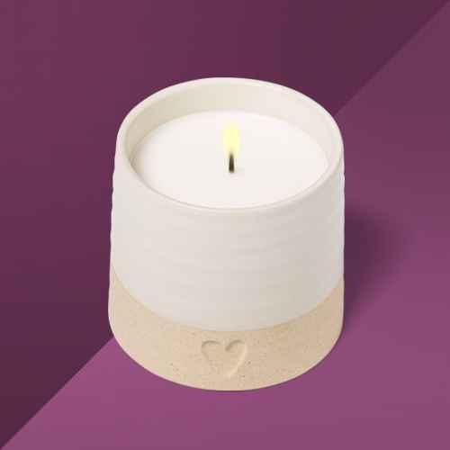 10.3oz Valentine's Ceramic Jasmine Rose Candle - Opalhouse™