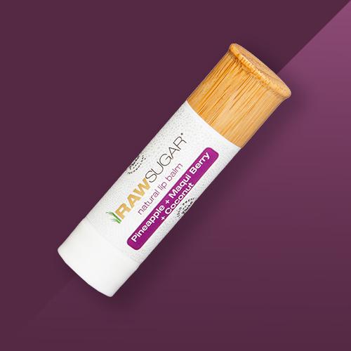 Raw Sugar Organic Lip Balm - Pineapple + Maqui Berry + Coconut - 0.25oz