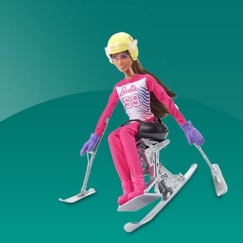 Barbie Para Alpine Doll, Barbie Fashionistas Doll - Star Print Dress, Barbie Fashionistas Doll #165 with Wheelchair & Long Blonde Hair, Barbie Fashionistas Doll #166 with Wheelchair & Crimped Brunette Hair, Barbie Fashionistas Doll #121 Brunette Hair and Prosthetic Leg