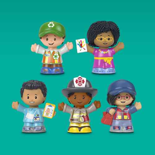 Fisher-Price Little People Team USA Winter Sports Collector Set